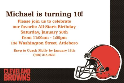 Custom Cleveland Browns Invitations