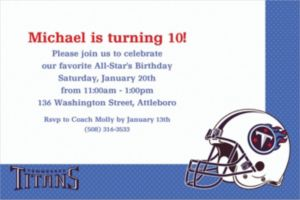 Custom Tennessee Titans Invitations