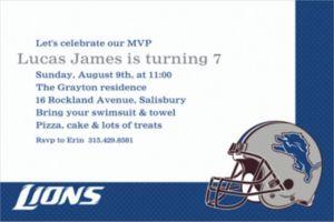 Custom Detroit Lions Invitations