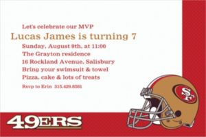 Custom San Francisco 49ers Invitations