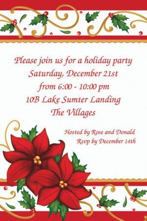 Custom Winter Botanical Invitations
