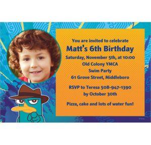 Custom Phineas & Ferb Photo Invitations