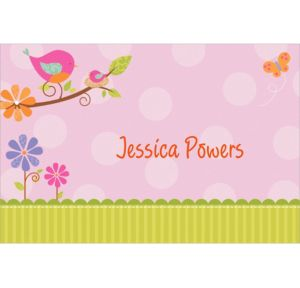Custom Tweet Baby Girl Baby Shower Thank You Notes