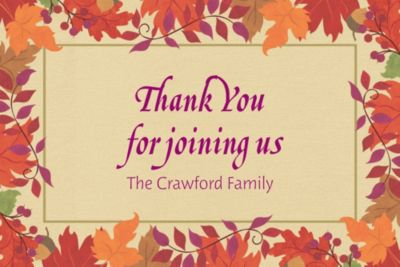 Custom Festive Fall Thank You Notes
