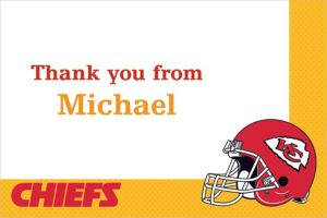 Custom Kansas City Chiefs Thank You Notes