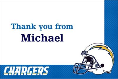 San Diego Chargers Custom Thank You Note