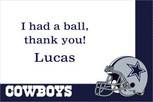 Custom Dallas Cowboys Thank You Notes