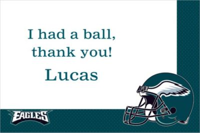 Custom Philadelphia Eagles Thank You Notes