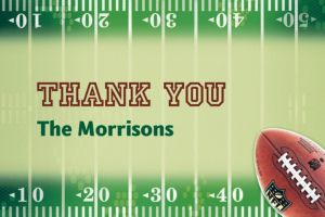 Custom NFL Drive Thank You Notes