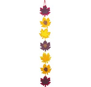 Glitter Autumn Leaf Wall Decoration