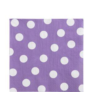 Lilac Polka Dot Lunch Napkins 16ct