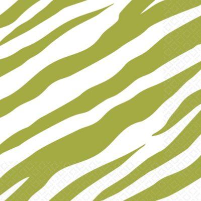 Avocado Zebra Print Lunch Napkins 16ct