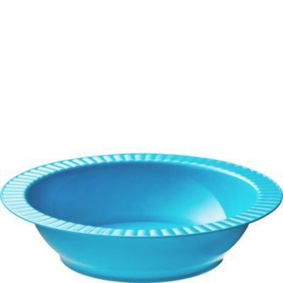 Caribbean Blue Premium Plastic Soup Bowls 24ct