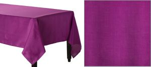 Plum Fabric Tablecloth