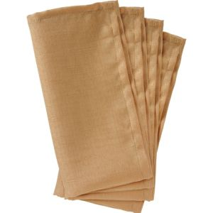 Gold Fabric Napkins 4ct