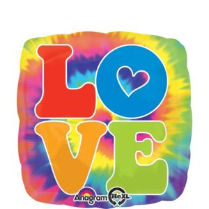 Tie Dye Balloon - Love