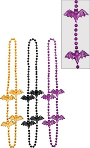 Bat Bead Necklaces 6ct