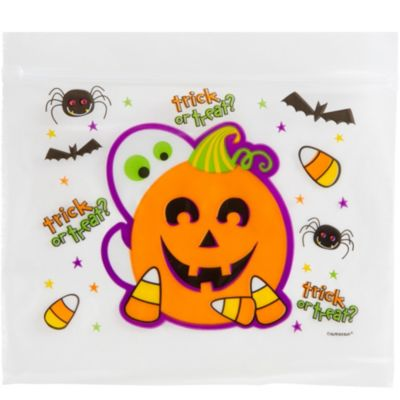 Ziplock Cute Halloween Treat Bag 30ct