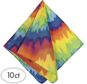 Tie-Dye 60s Bandanas 10ct