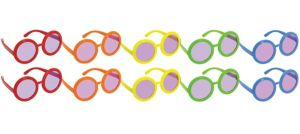 Rainbow 60s Sunglasses 10ct