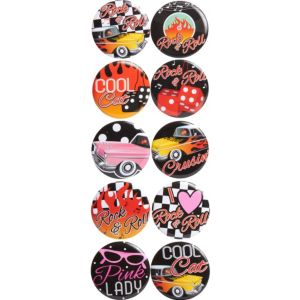 Classic 50s Buttons 10ct