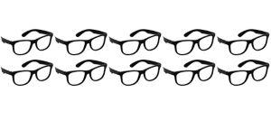 Black Classic 50s Glasses 10ct