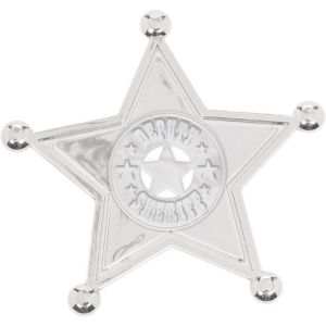 Silver Sheriff Badges 8ct