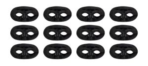 Black Domino Masks 12ct