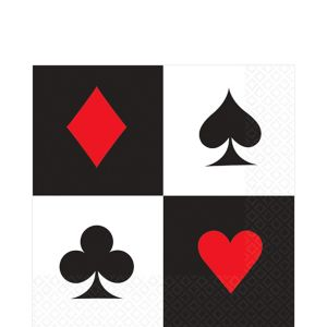 Place Your Bets Casino Lunch Napkins 16ct