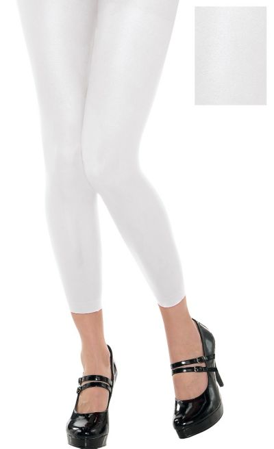 Footless White Tights