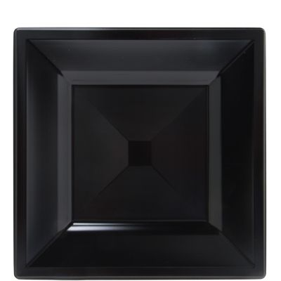 Black Premium Plastic Square Lunch Plates 10ct