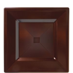 Chocolate Brown Premium Plastic Square Lunch Plates 10ct