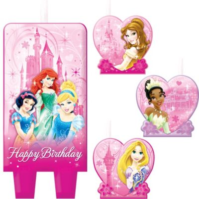 Disney Princess Birthday Candles 4ct