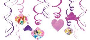 Disney Princess Swirl Decorations 12ct