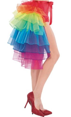 Adult Tie-On Rainbow Bustle