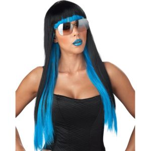 Diva Glam Black & Blue Ombre Wig