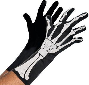 Adult Black and Bone Gloves - Skeleton
