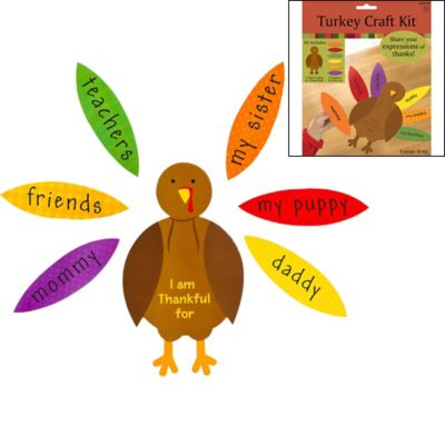Turkey Craft Kit for 4