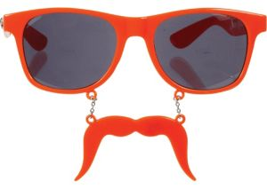 Orange Handlebar Sun-Staches