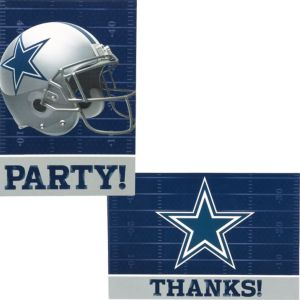 Dallas Cowboys Invitations & Thank You Notes For 8