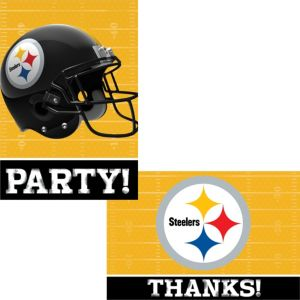 Pittsburgh Steelers Invitations & Thank You Notes For 8