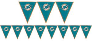 Miami Dolphins Pennant Banner