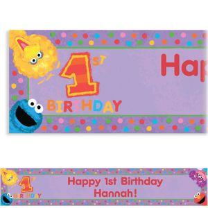 Custom Sesame 1st Birthday Banner 6ft