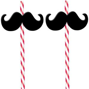 Moustache Straws 2ct