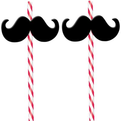 Moustache Straws 2ct