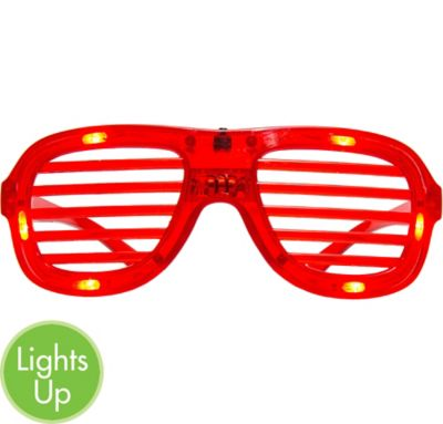 Light-Up Christmas Slotted Glasses