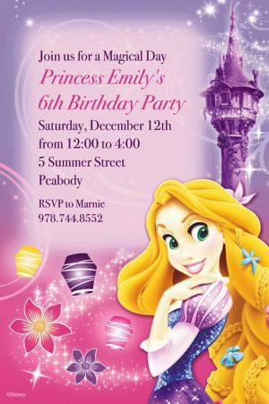Custom Tangled Invitations
