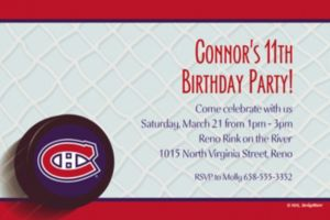 Custom Montreal Canadiens Invitations