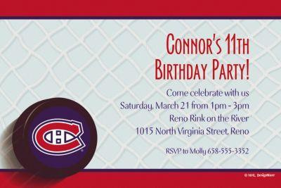 Custom Montreal Canadiens Invitations