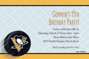 Custom Pittsburgh Penguins Invitations